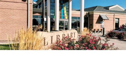 exterior entrance to the Cherry Lane library