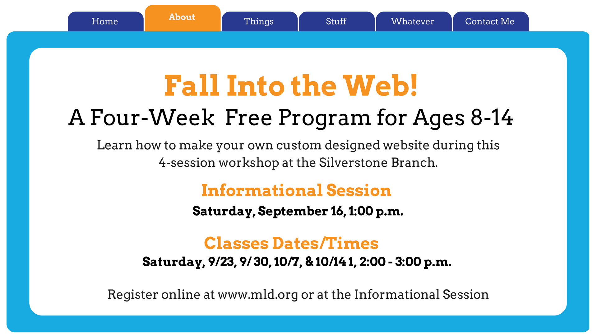 Fall Into the Web: Beginning Website Creation for Tweens