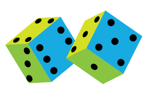 pair of colorful dice