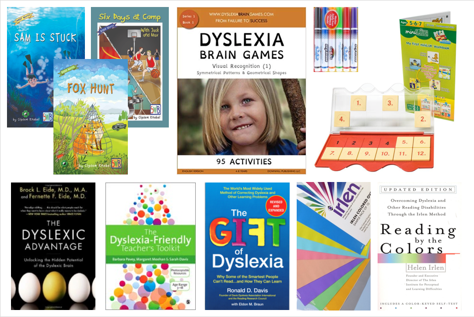 books and games relating to dyslexia