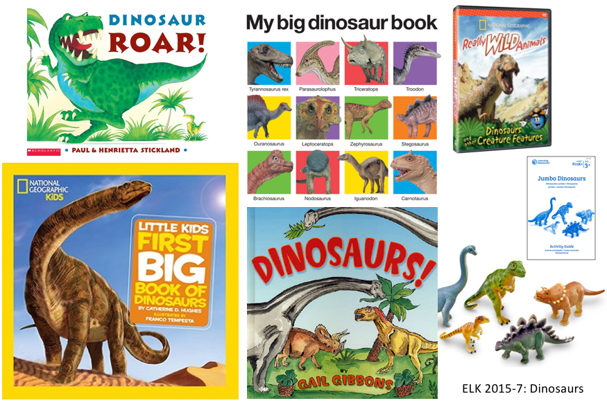 Book covers and dinosaur play set