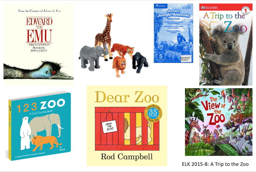 zoo books and zoo animal toys