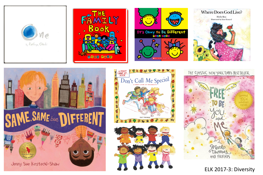 Book covers and multicultural puppets