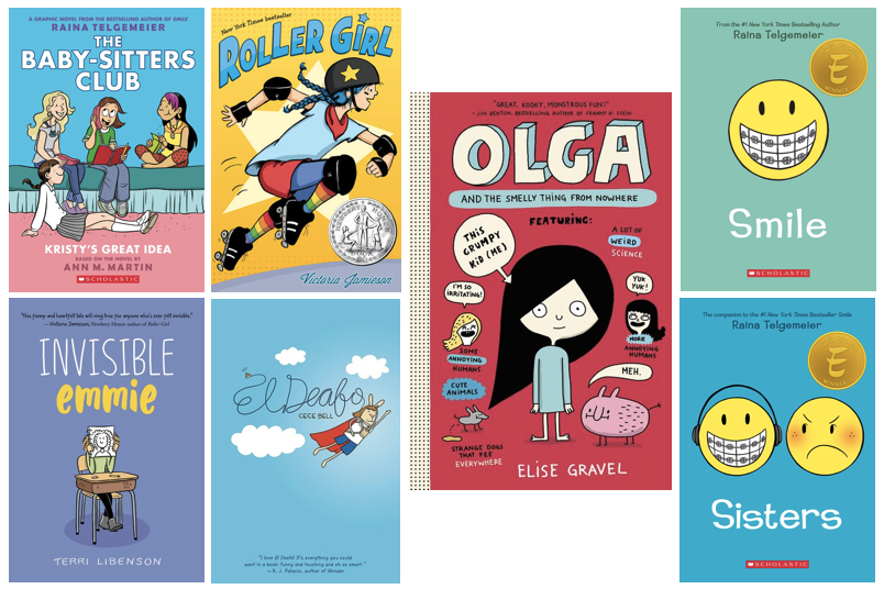 7 graphic novel book covers