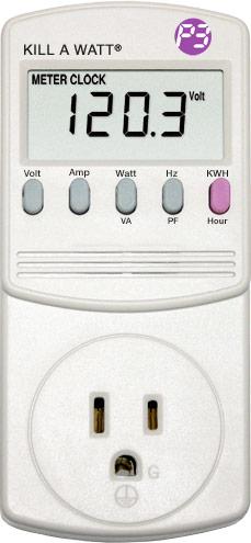 Kill-A-Watt energy meter