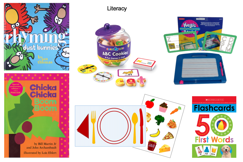 Books, games and flashcards