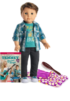 American Girl doll Logan and accessories