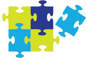 illustrated puzzle pieces